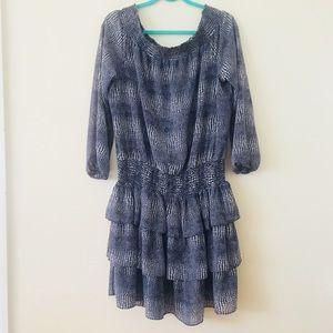 Michael Kors Zephyr Print Off Shoulder Dress